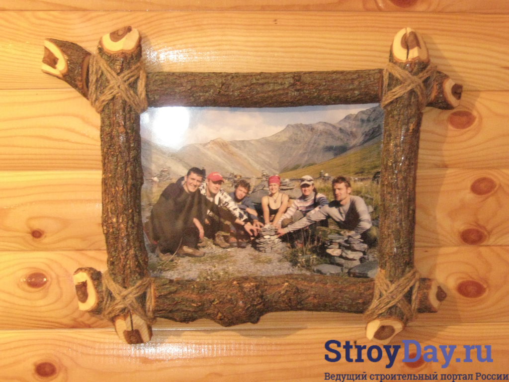 Рамку для фото из дерева своими руками